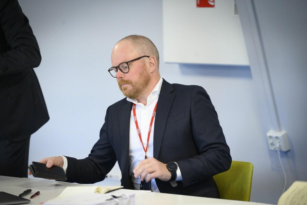 Sjefredaktør Gard Steiro i VG. Her fra Oslo tingrett mandag 7. september.
