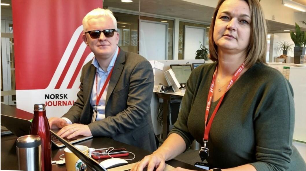 NJs nestleder Dag Idar Tryggestad og NJ-leder Hege Iren Frantzen.