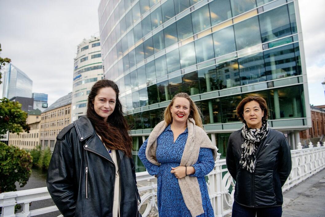 Janne Johannessen redaktør for nyhet og dagsorden, Julie Lundgren redaktør med ansvar for produkt og innovasjon og Hege Kosberg direktør for reklame og kommunikasjon.