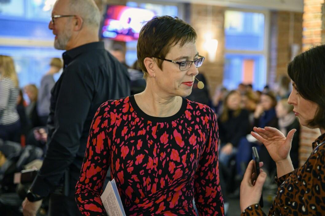 Mari Velsand, direktør i Medietilsynet, sier saksbehandlingen har høyeste prioritet.