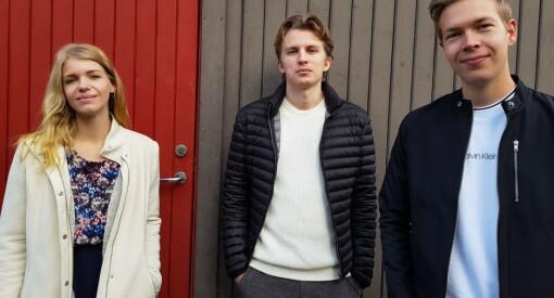 Elise (28), Anders (22) og Simen (23) er ansatt som journalister i forskning.no