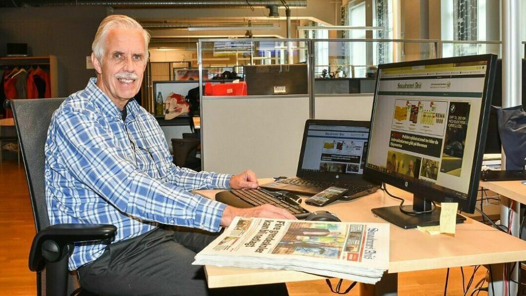 Ansvarlig redaktør Jarle Bentzen kutter i papirutgivelsene i Smaalenenes Avis.