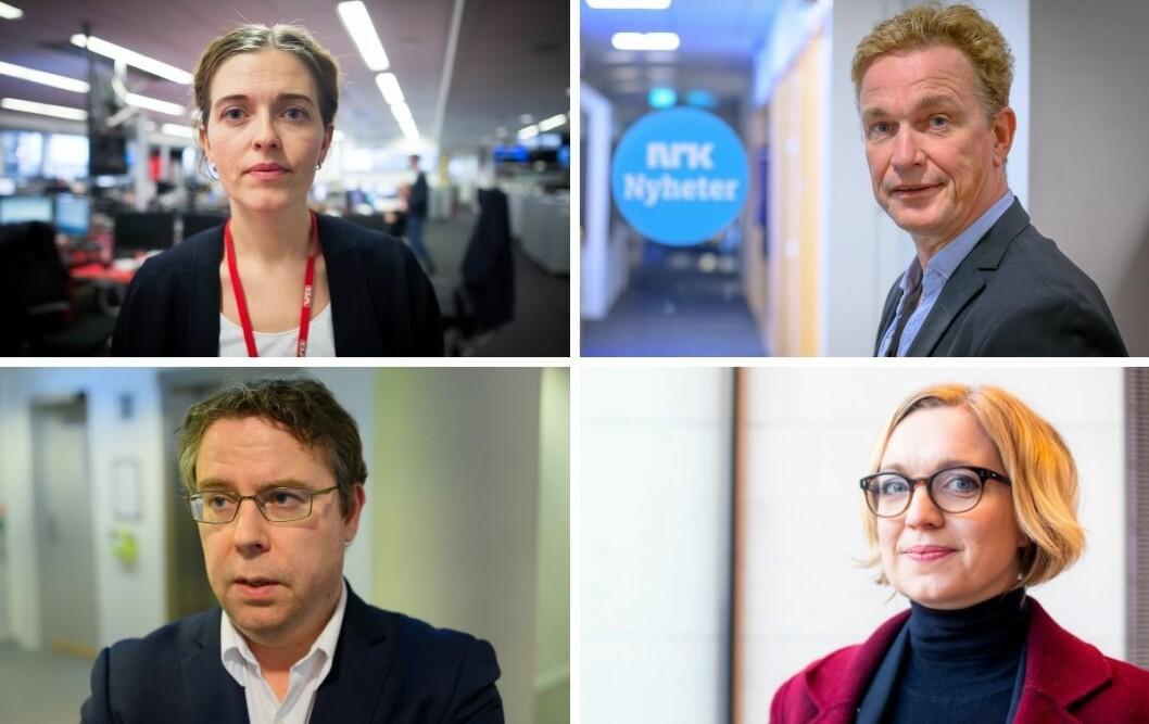 VGs Tora Bakke Håndlykken, NRKs Espen Olsen Langfeldt, Dagbladets Frode Hansen og NTBs Sarah Sørheim har alle landet på samme konklusjon: De omtaler ikke meldingene mellom trusselsiktede Laila Bertheussen og hennes venninner.