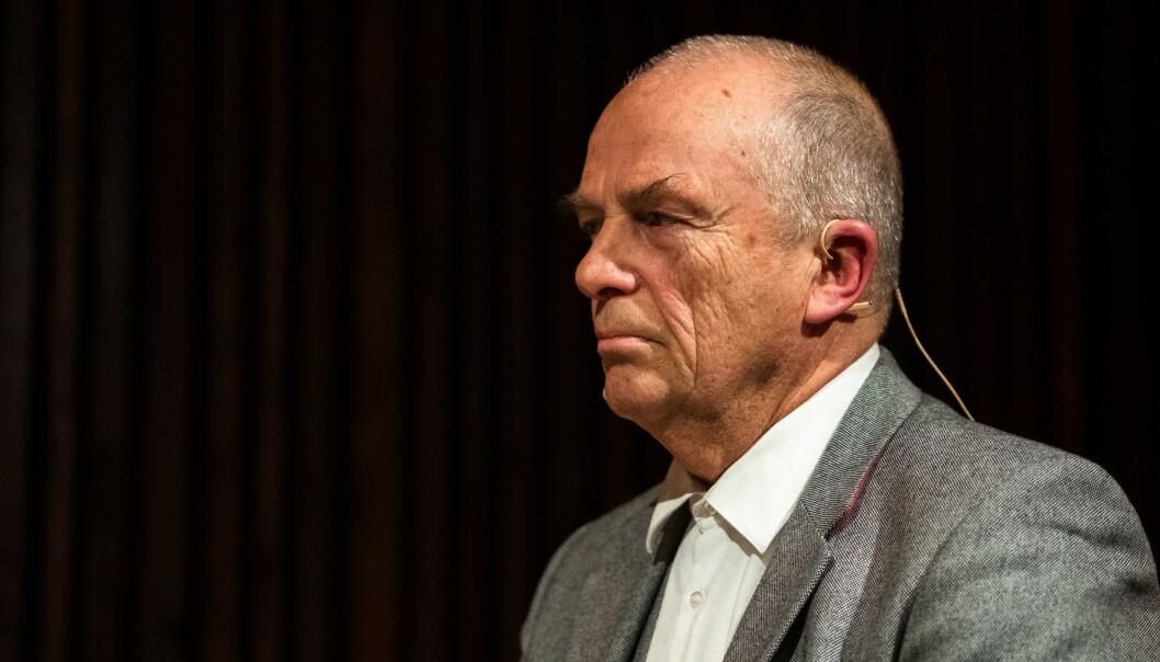 Redaktør Hans Rustad og Document.no. Her er Rustad avbildet under en debatt i regi av Oslo Journalistklubb og Oslo redaktørforening.