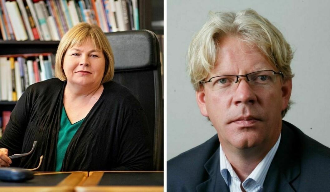 Elin Floberghagen (til venstre) og Tron Strand har levert sine innspill til Ytringsfrihetskommisjonen.