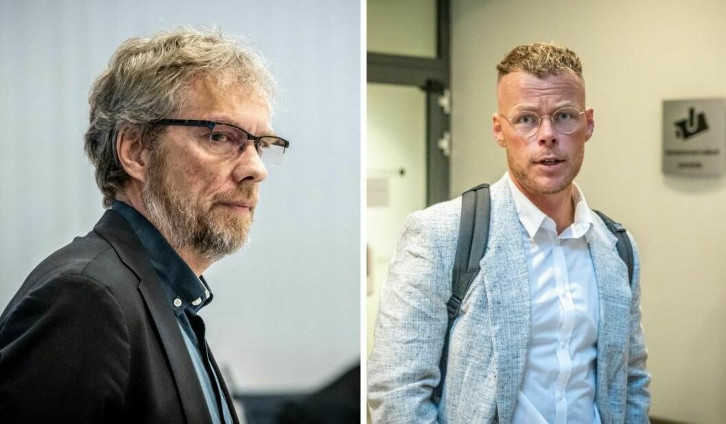 NRK-journalist Tormod Strand (til venstre) og Dagbladet-journalist Steinar Suvatne forklarte seg onsdag i retten.