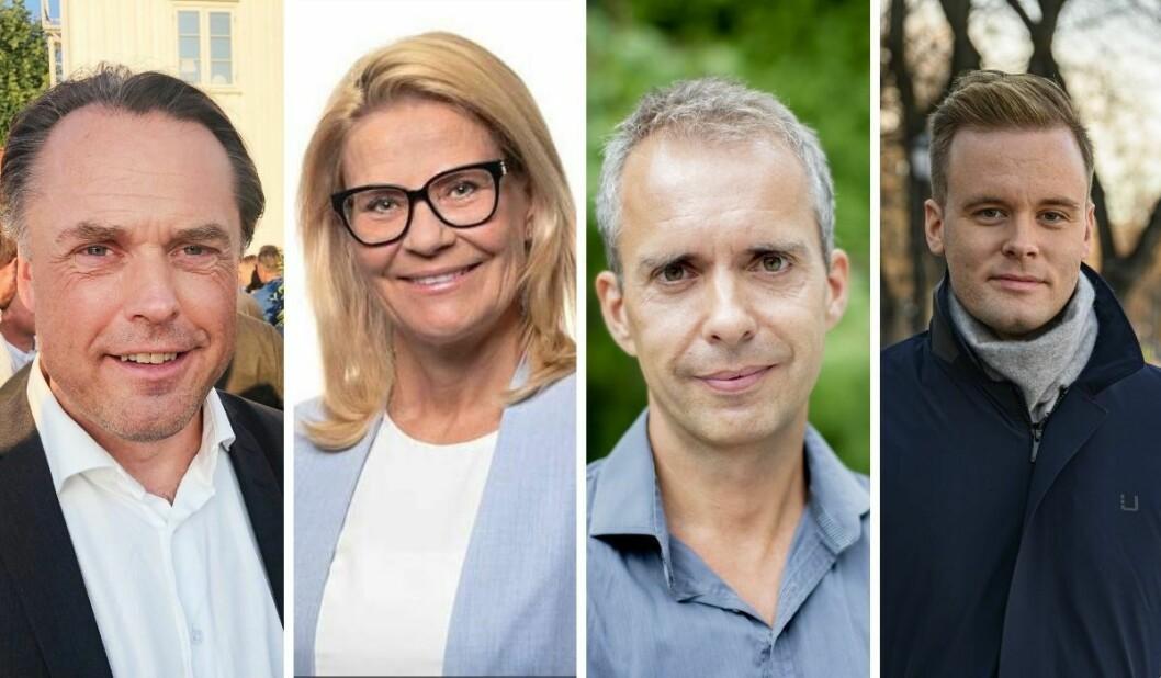 Kjetil Løset (fra venstre), Cecilie Roang, Jarle Roheim Håkonsen og til sist Cato Husabø Fossen har alle forlatt journalistikken.
