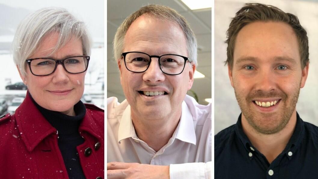 Redaktørene Marit Kalgraf, Ole Knut Alnæs og Øystein Bjerkestrand opplever alle leservekst i sine lokalaviser som følge av smitteutbrudd i sine respektive dekningsområder.