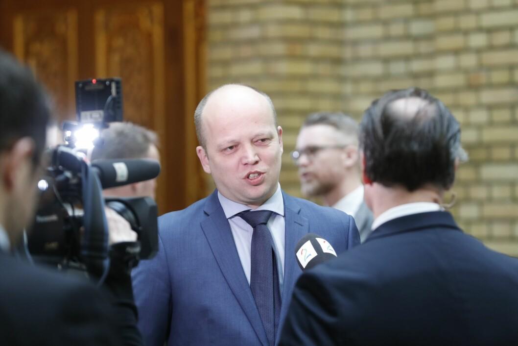 Trygve Slagsvold Vedum (Sp) vil ikke gjøre som Venstre.