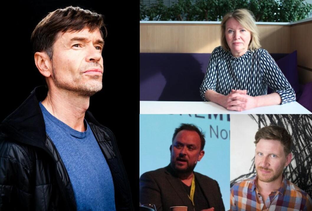 Sosiolog og skribent Kjetil Rolness, DB-kommentator Marie Simonsen, VG-kommentator Hans Petter Sjøli og BT-kommentator Jens Kihl.