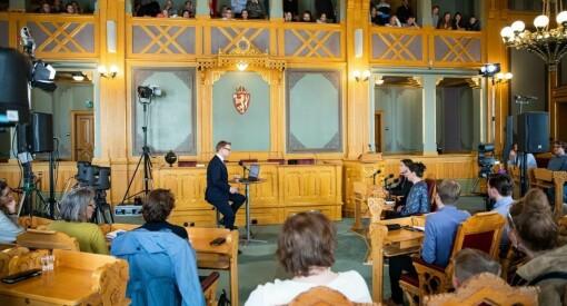 Stortinget åpner opp nytt presserom - gir bedre plass og smittevern