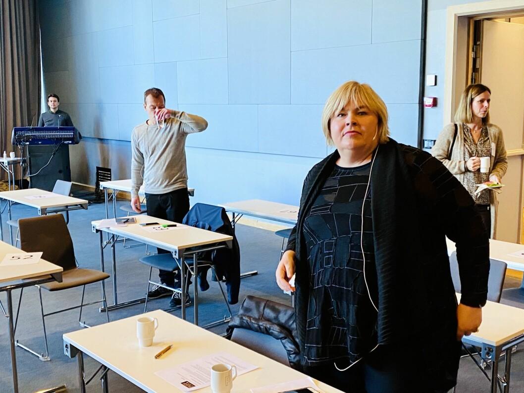 Josimar-redaktør Håvard Melnæs og generalsekretær Elin Floberghagen i Norsk Presseforbund. Her fra PUFF-konferansen 15. oktober 2020.
