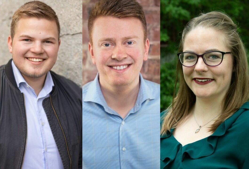 Vegard Frøseth Fenes, Erik Fløan og Maja Berg.