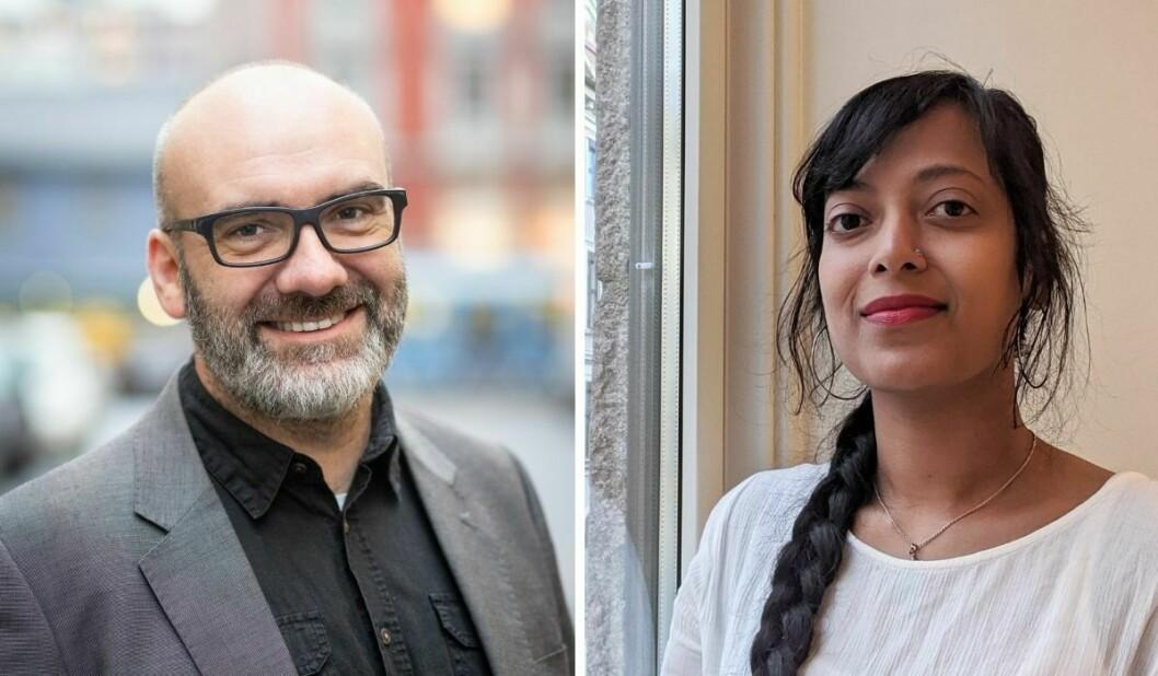 Ansvarlig redaktør i Transit magasin, Terje Karlsen, og nyansatt markedsansvarlig i Transit magasin, Chaitra Shamraya.