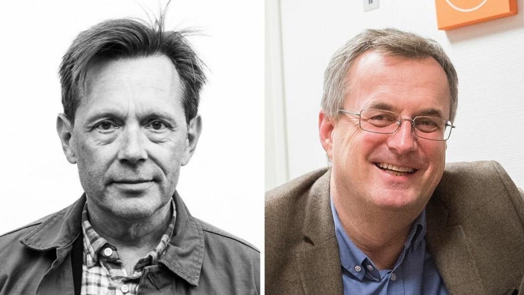 Tidligere redaktør i Tidsskrift for norsk psykologiforening Bjørnar Olsen (t.v) skulle ønske at Per Brikt Olsen og Fagpressen hadde gjort mer for å hjelpe ham og redaksjonen da de var i konflikt med utgiveren sin.