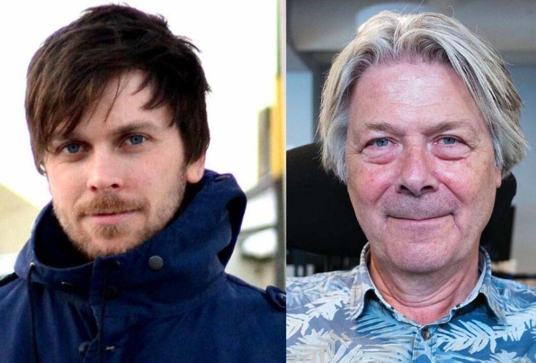 Journalist Amund Trellevik i Nordlys og Erik Stephansen, redaktør og kommentator i Nettavisen