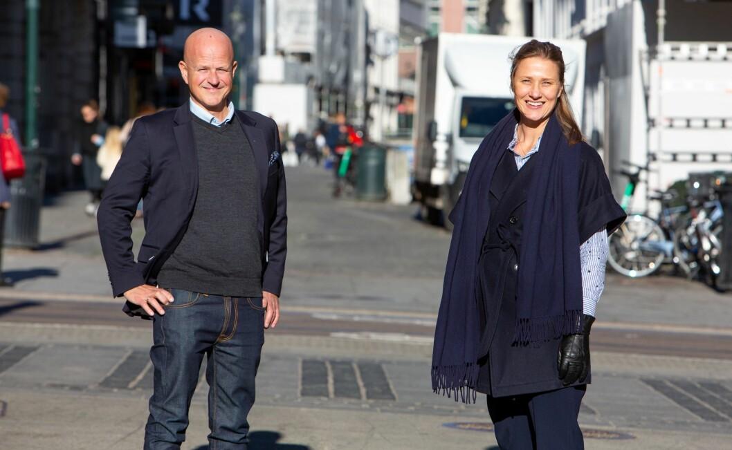 Innovasjon Norge valgt TRY Råd som nytt kommunikasjonsbyrå. Her med Bård Hammervold i TRY Råd og kommunikasjonsdirektør Kristin Welle-Strand i Innovasjon Norge.