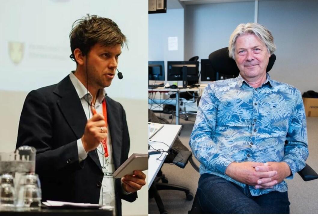 Journalist Amund Trellevik i Nordlys og Erik Stephansen, redaktør og kommentator i Nettavisen.