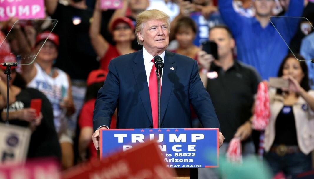 Donald Trump, USAs president.