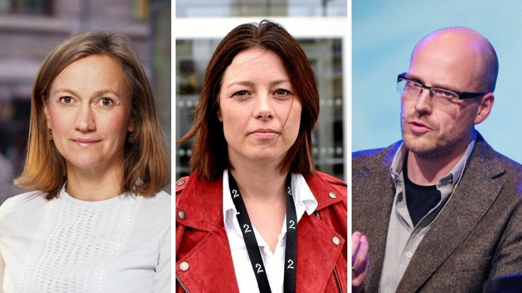Verken Schibsteds administrerende direktør Siv Juvik Tveitnes, TV 2s kommunikasjonsdirektør Sarah Willand eller Amedias direktør Pål Nedregotten er positive til store kutt i NRKs budsjett.