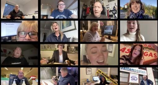 Slik har du aldri hørt norske redaktører før - synger ut i ny karaokefilm