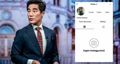 Fredrik Solvangs Instagram-konto er hacket: – Får ikke tilgang til noe som helst
