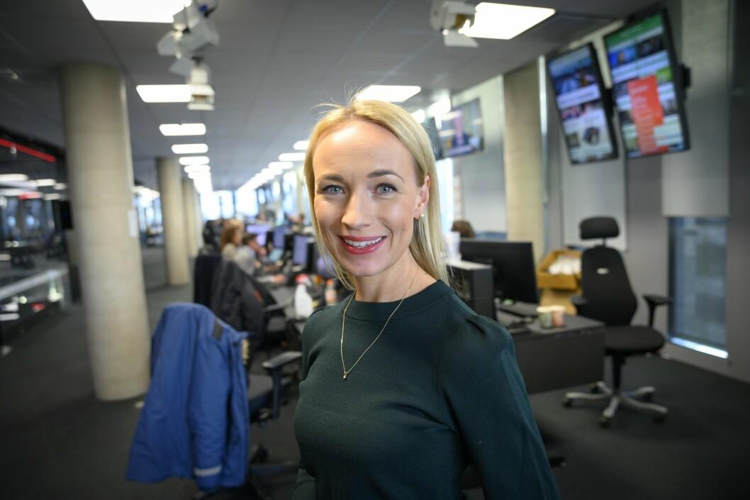 Programleder Linn Wiik i TV 2 skrev søndag en korona-kommentar som skapte reaksjoner.