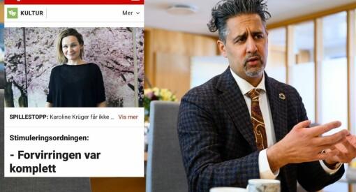 Kulturministeren ut mot Dagbladet: – Kan noen sjekke om noen er på jobb der?