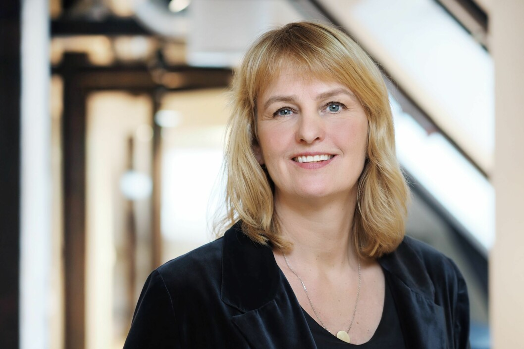 Administrerende direktør i Mediebedriftenes Landsforening, Randi Øgrey.