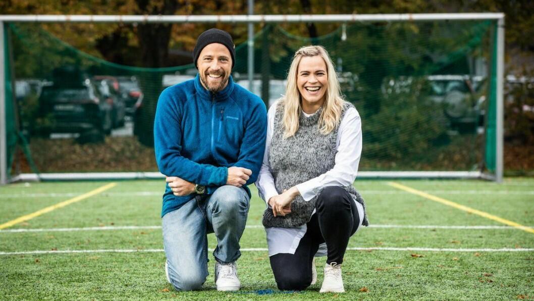 NRK-duoen Carl Andreas Wold og Carina Olset er programledere i NRK Sports podkast, Sporten.