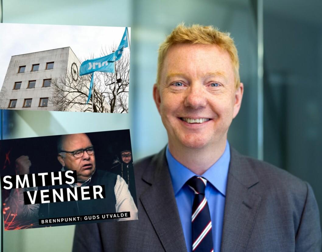 First House-rådgiver Hans Christian Vadseth jobber for Brunstad Christian Church (Smiths Venner) med deres infokampanje mot NRKs Brennpunkt-dokumentar.