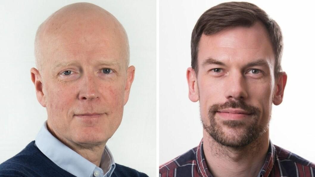 Produktsjef i eInnsyn, Stein Magne Os (t.v) og produkteier av grensesnittet, Erik Aarsand er begge fornøyde med hvordan nye eInnsyn.no ser ut i dag,