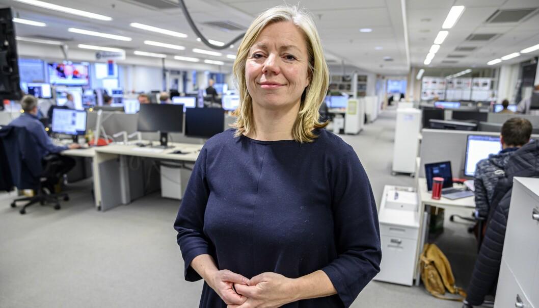 Sjefredaktør i Aftenposten, Trine Eilertsen.