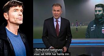 NRK informerer: Ikke-hvite fotballspillere blir demotiverte når lederne er hvite