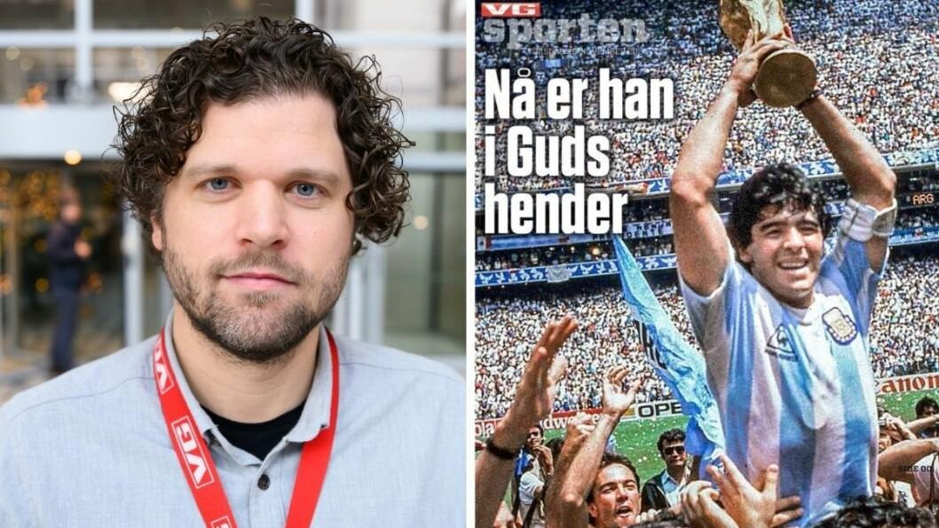 VG-sportsleder Eirik Borud er stolt av hvordan desken lagde et stort bilag om Diego Maradona, kun timer før deadline.