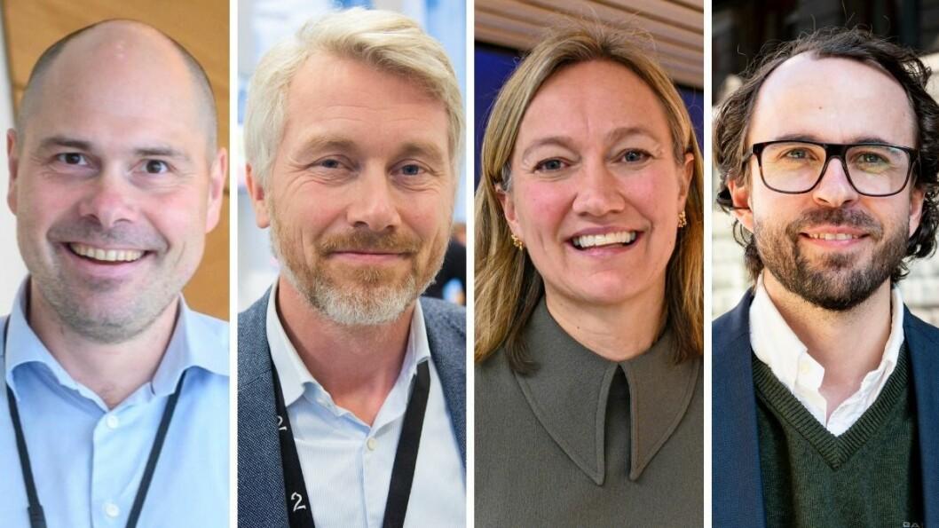 Amedias konsernsjef Anders Opdahl. TV 2-sjef Olav T. Sandnes, Siv Juvik Tveitnes i Schibsted Media Group og Jærradioens leder Anders Sommerfeldt Skretting deltok alle i Medietilsynets debatt om økonomi.
