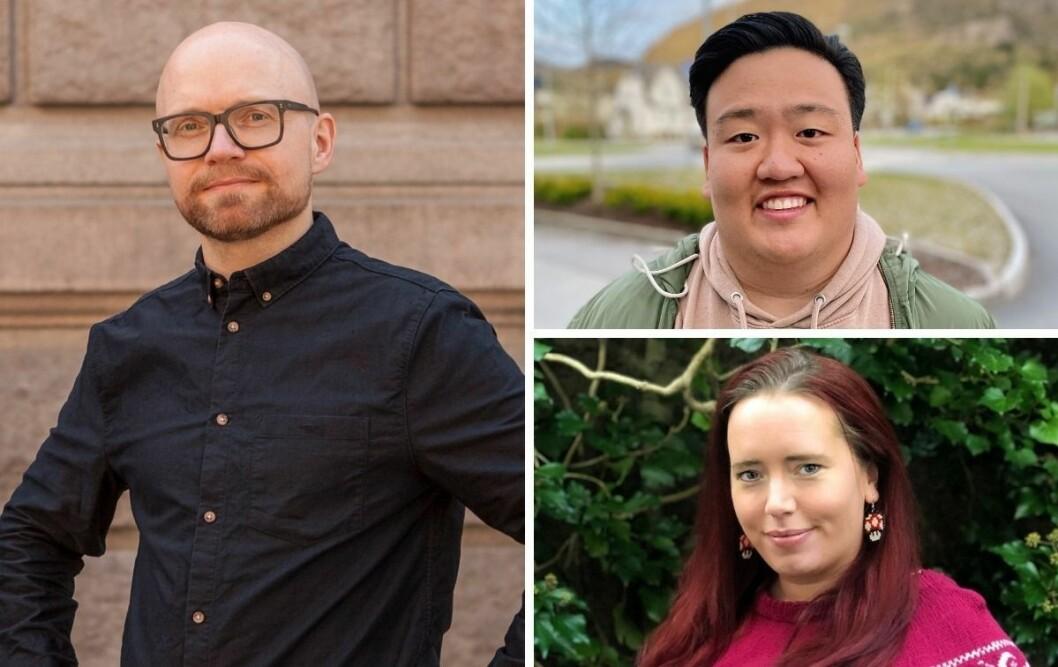 Nyhetsredaktør Jan Magnus Weiberg-Aurdal, nyhetsjournalist Even Hye T. Barka og nyhetsjournalist Torill Henriksen i Medier24.