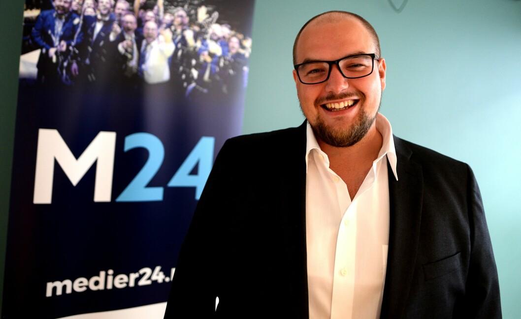 Ansvarlig redaktør og daglig leder Erik Waatland i Medier24 AS.