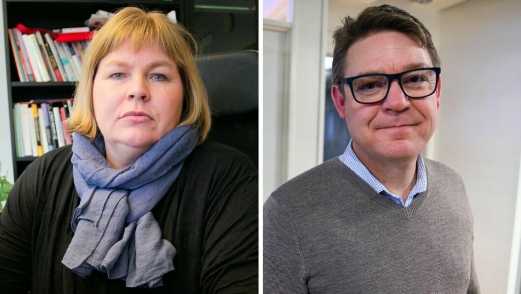 Generalsekretær Elin Floberghagen og NENTs office manager og P4-sjef Kenneth Andresen.