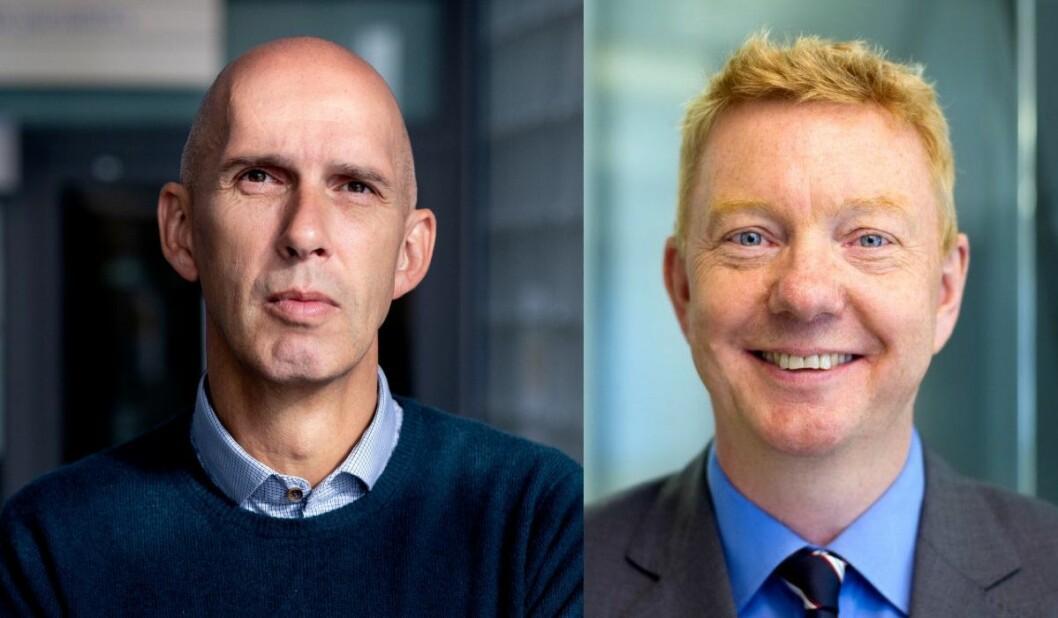 NRKs redaktør for dokumentar og samfunn, Frank Gander - og First House-rådgiver Hans-Christian Vadseth.