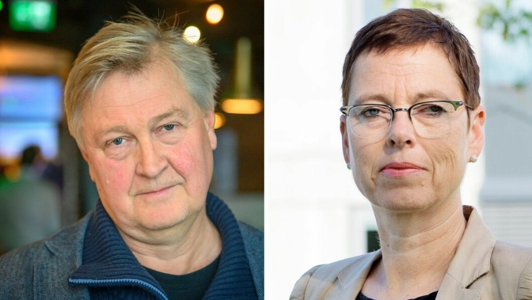 Nett.no-redaktør Kjetil Haanes er ikke fornøyd med at avisen hans ikke fikk pressestøtte. Medietilsynets Mari Velsand fastholder at de vurderte saken til at vilkårene for støtte ikke var oppfylt.