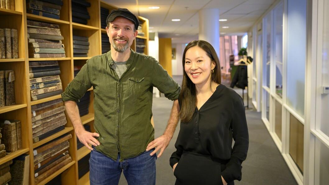 Klubbleder Jo T. Gaare og sjefredaktør Sun Heidi Sæbø er begge svært godt fornøyde med at Morgenbladet har satt ny abonnentsrekord.