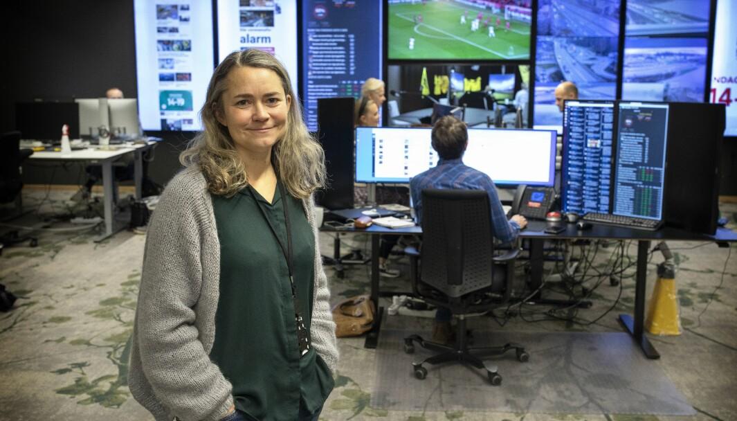 Mari Horve Reite er leder for digital debatt hos Fædrelandsvennen, og forteller at avisen har fått mange positive tilbakemeldinger etter at de arrangerte yrkesmessen for årets skolevalg.