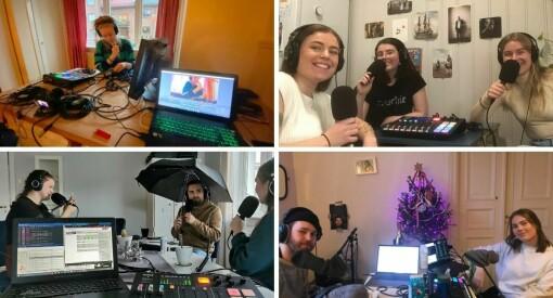 Her lager de studentradio fra kollektivet: – Jeg er veldig imponert