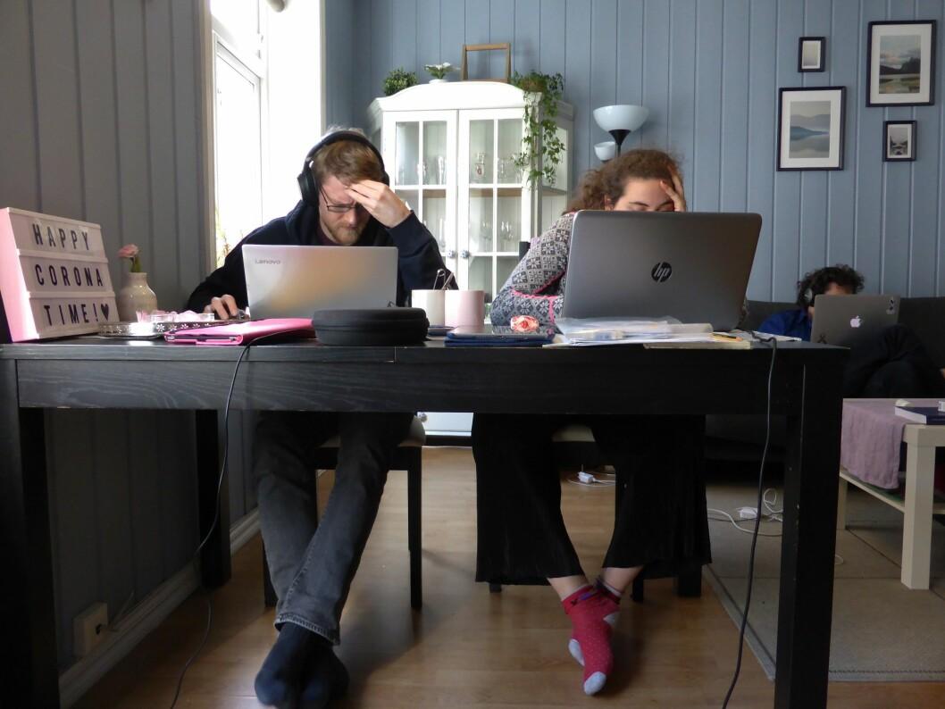 Mange journalistikk-studenter har måtte ta redaksjonspraksisen på hjemmekontoret. Foto:  Berit Keilen / NTB