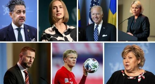 Politikerne dominerer igjen. Dette er de mest omtalte personene i 2020