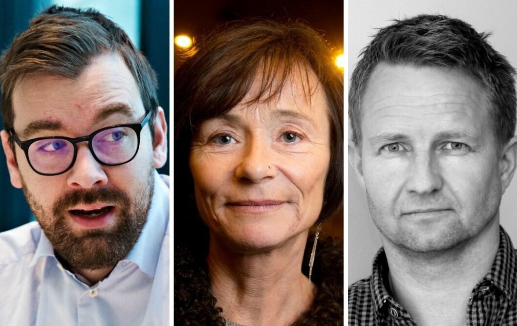 BT-kommentator Morten Myksvoll (t.v) er ikke fornøyd med hvordan et innlegg fra Hege Storhaugs Human Rights Service blir omtalt på av NRK. Redaksjonssjef Lars Navestad mener derimot at kanalen har sitt på det tørre.