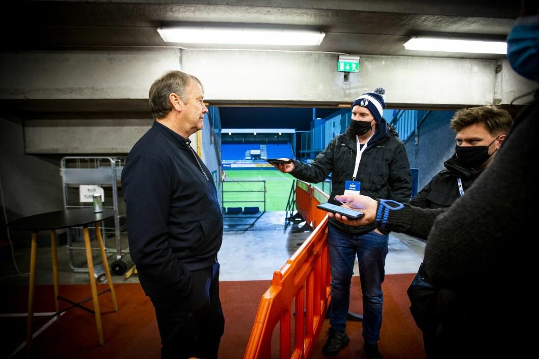 Rosenborgs trener Åge Hareide etter eliteseriekampen i fotball mellom Sandefjord og Rosenborg på Sandefjord arena.