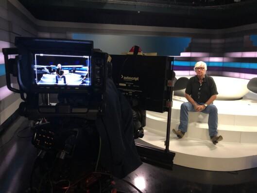 Her sitter Ole Torp i studioet på Marienlyst, der mang en sending av programmet som er oppkalt etter ham er blitt filmet.