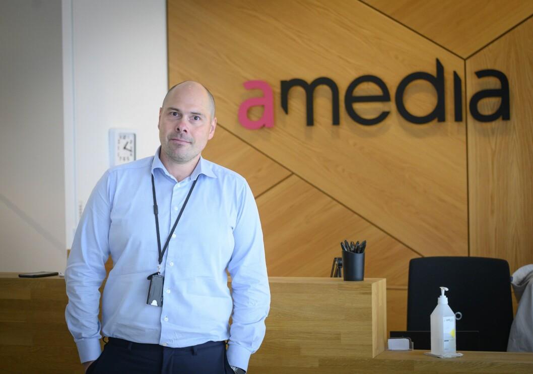 Konsernsjef Anders Opdahl i Amedia.
